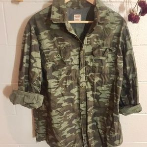Oversized Camo Buttonup
